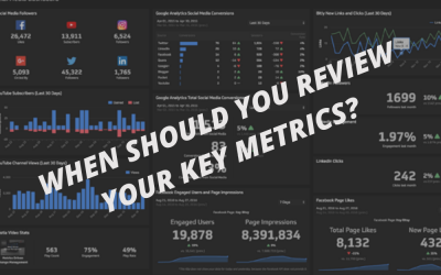 When should you review your key metrics?