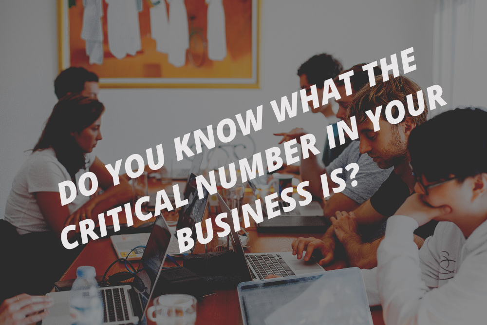 Do you know what the critical number in your business is?
