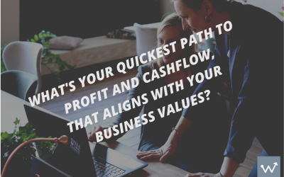 What's your quickest path to profit and cash flow?